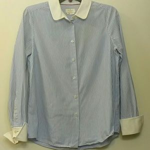 Kate Spade Stripe Long Sleeve Button Down Shirt